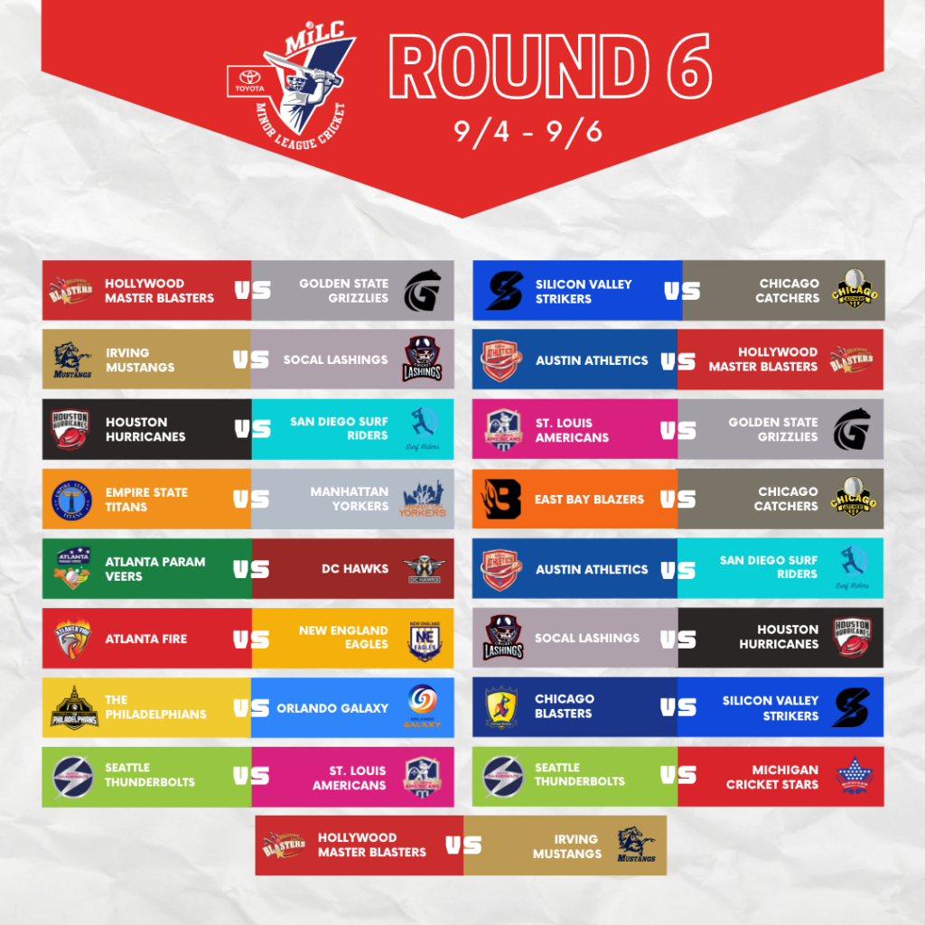 Round 6 Matchups continued